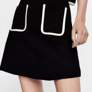 2 Zara Knit skirts with contrasting piping